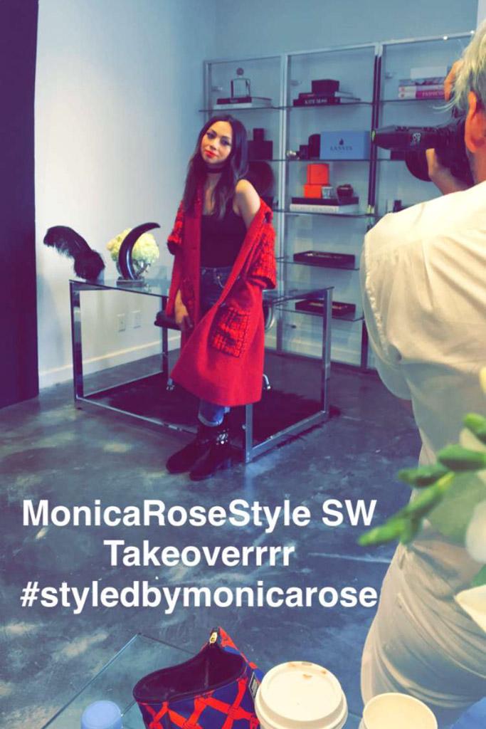 Monica Rose Stylist Stuart Weitzman Snapchat