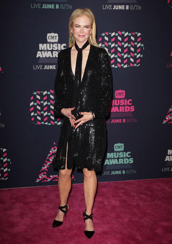 June 2016: Nicole Kidman in Giuseppe Zanotti heels at the CMT Music Awards.