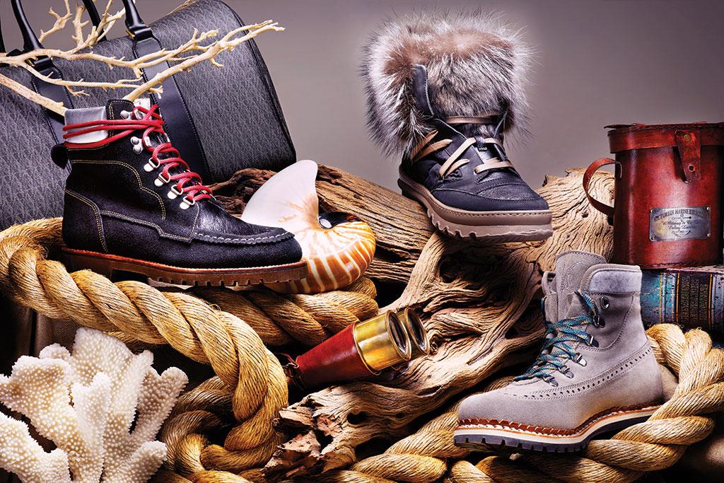 Brunello Cucinelli High-Top Fur Hiking Boots