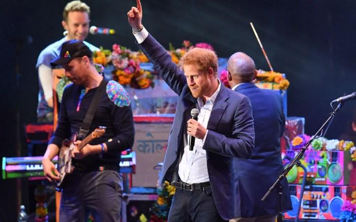 Prince Harry Sentebale Concert Coldplay