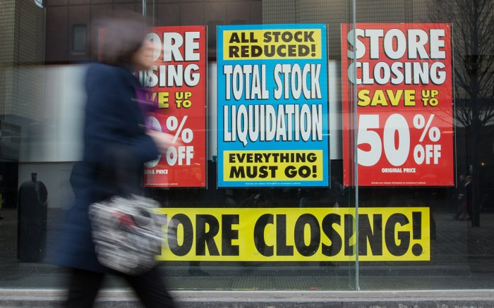 store closing liquidation bankrupt