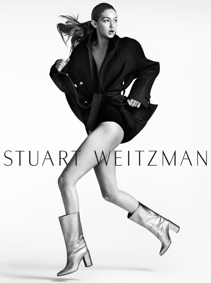 Stuart Weitzman Fall '16 Campaign Gigi Hadid