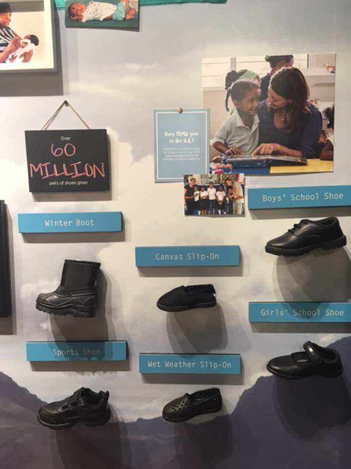 Toms Giving Wall Glendale Mall