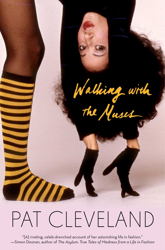 pat Cleveland with muses supermodel book