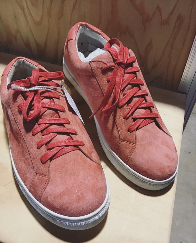 antler woods pink sneakers