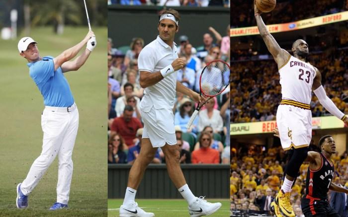 Rory McIlroy Roger Federer LeBron James