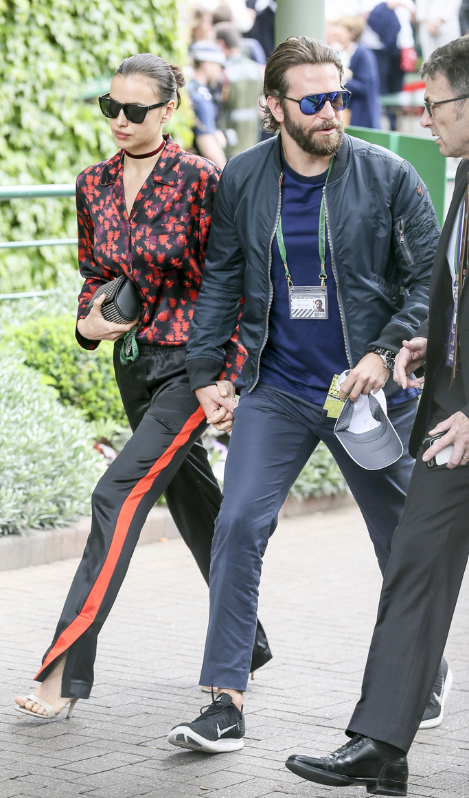 Bradley Cooper Irina Shayk wimbledon