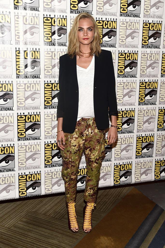 Cara Delevingne Comic-Con Shoe Style