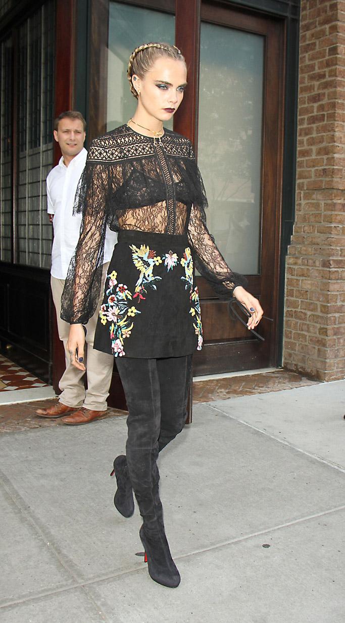 Cara Delevingne Celebrity Statement Shoes July 2016