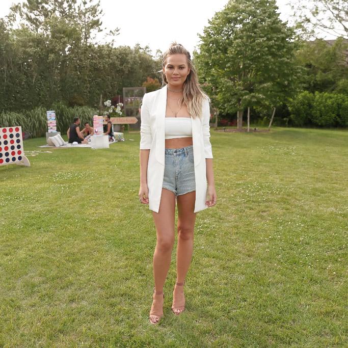Chrissy Teigen Celebrity Statement Shoes July 2016