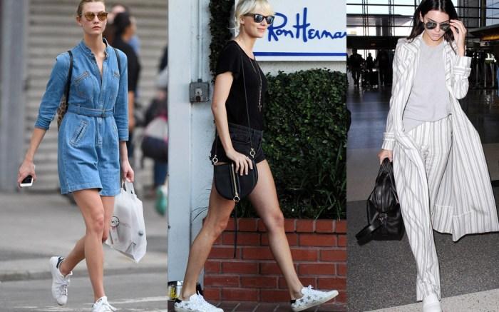 Celebrities White Sneakers