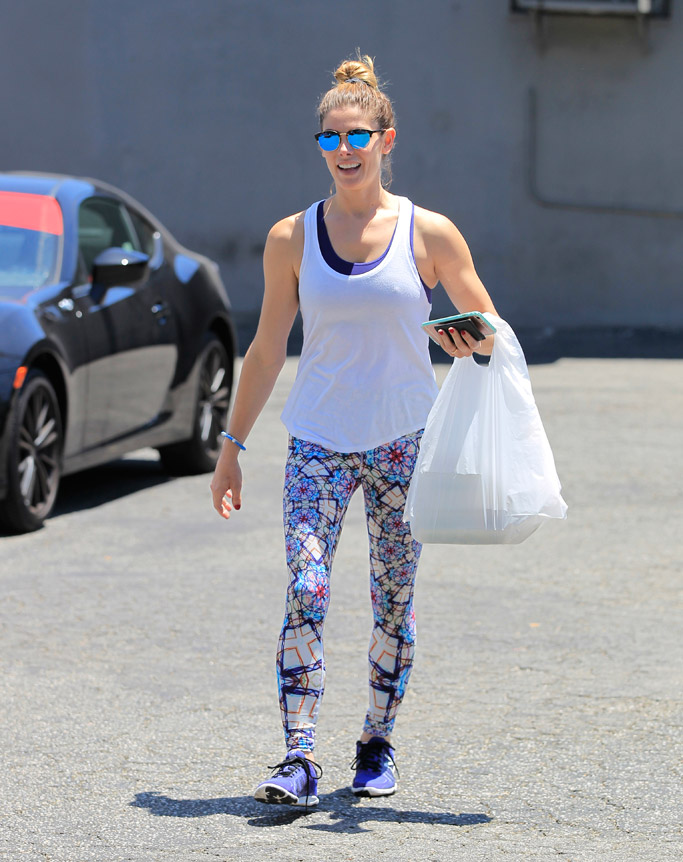 Ashley Green Celebrity Gym Style