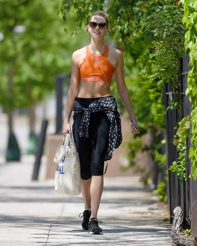 Karlie Kloss Celebrity Gym Style