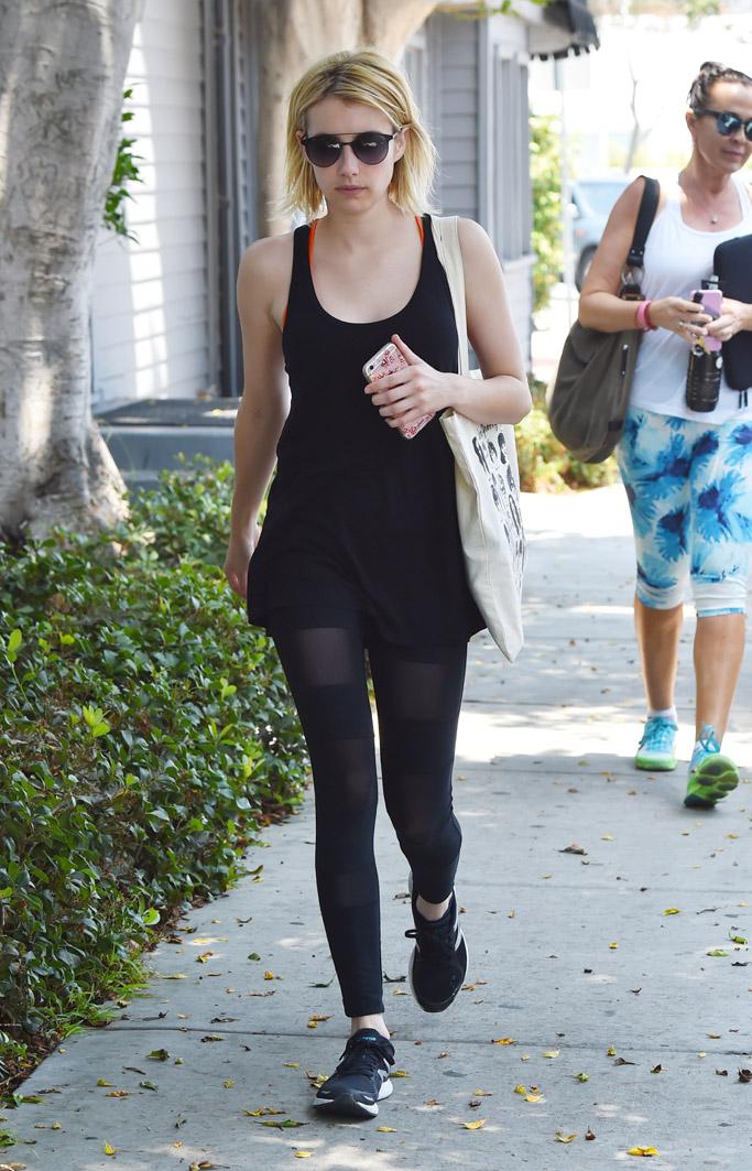 Emma Roberts Celebrity Gym Style