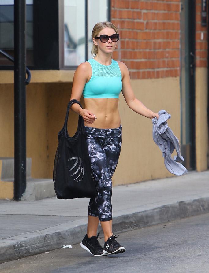 Julianne Hough Celebrity Gym Style