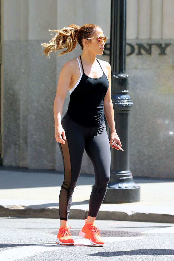 Jennifer Lopez Celebrity Gym Style
