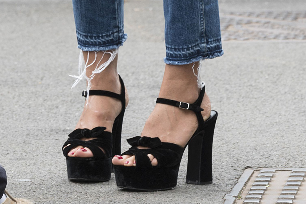 Heidi Klum Saint Laurent Sandals