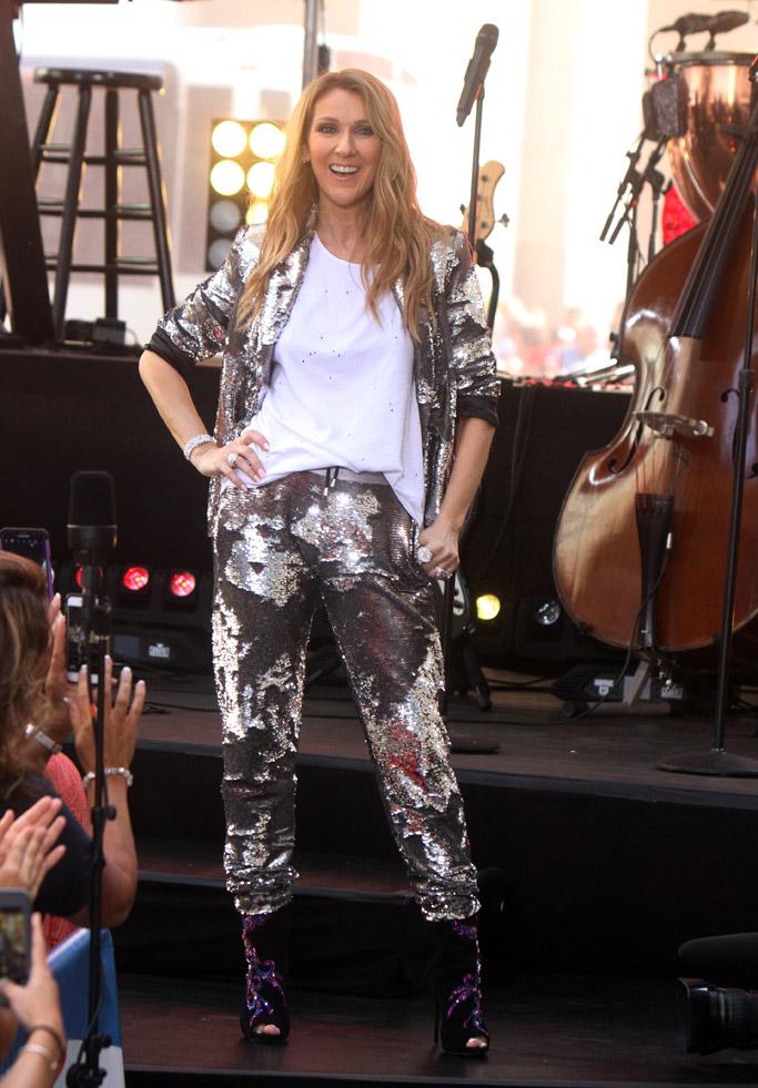 Celine Dion Celebrity Statement Shoes July 2016