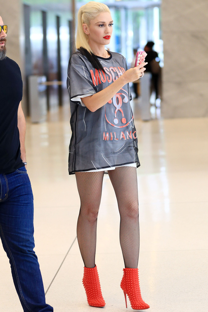 Gwen Stefani Christian Louboutin Spiked Boots