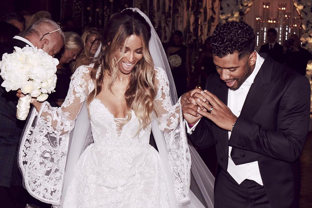 Ciara Marries Russell Wilson in Giuseppe Zanotti
