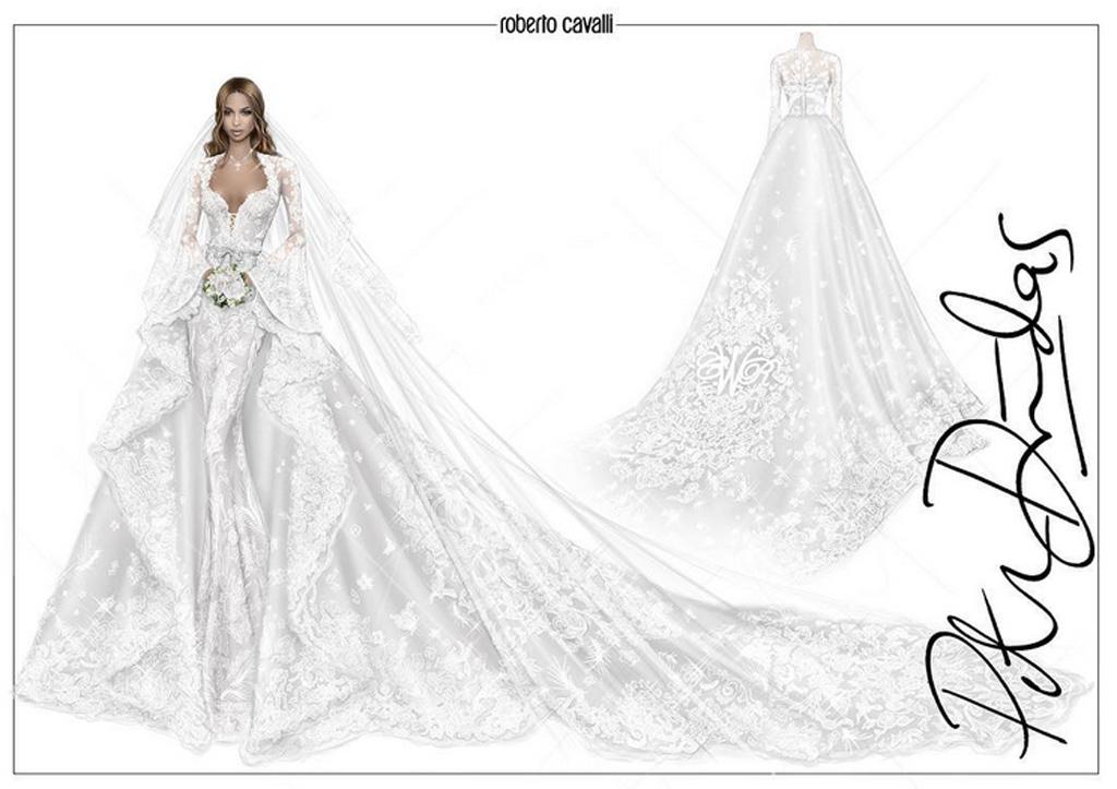 Ciara Weds In Roberto Cavalli
