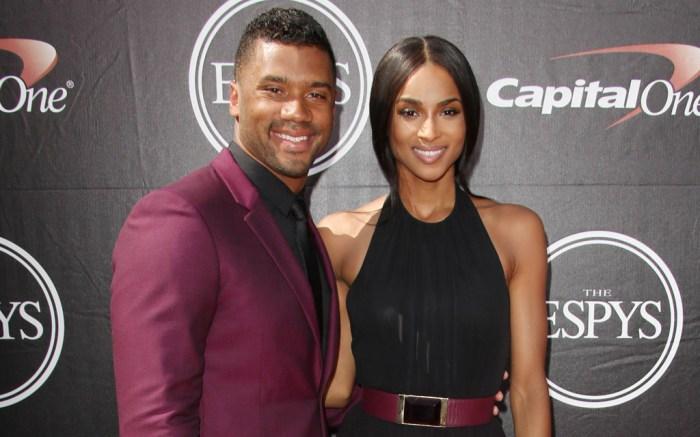 Russell Wilson and Ciara at the 2015 ESPY Awards