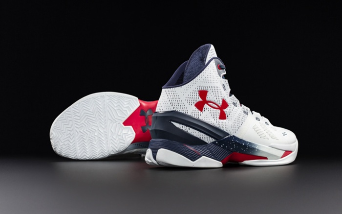 Under Armour Curry Two Red, White & Blue