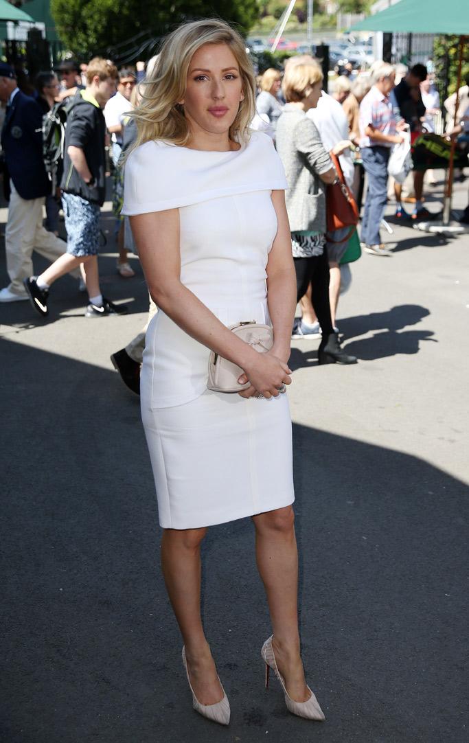 Ellie Goulding Celebrities At Wimbledon