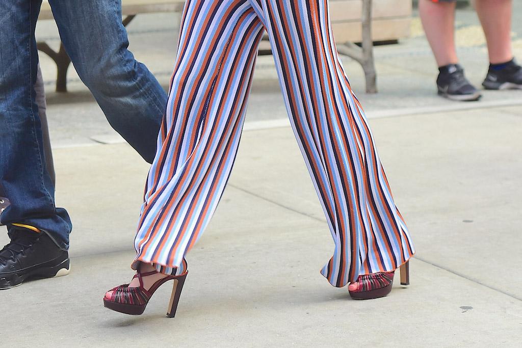 Emma Roberts Celebrity Statement Shoes July 2016