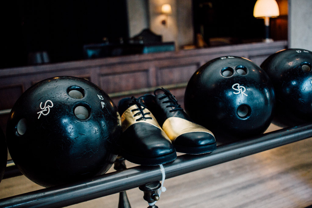 George Equivel The Spare Room bowling shoes
