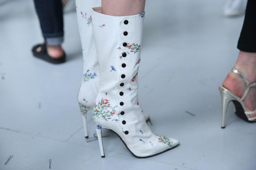 Giambattista Valli Shoes Fall 2016 Couture Show Backstage