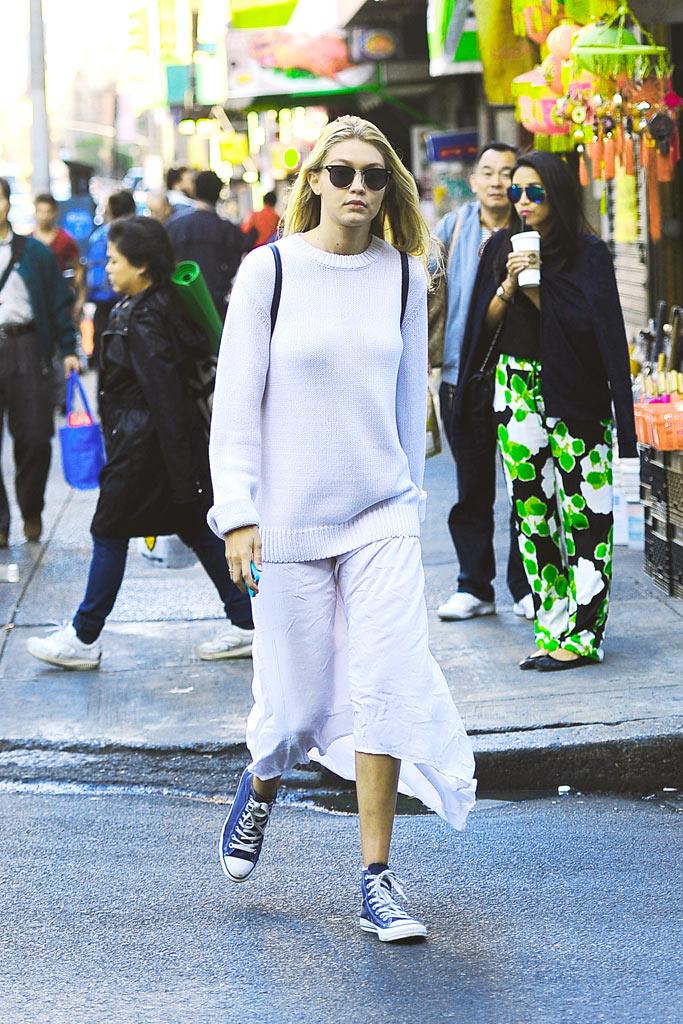 Gigi Hadid Converse NYC