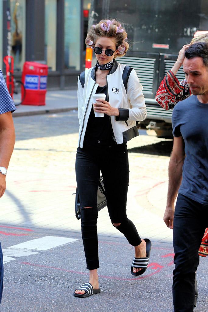 Gigi Hadid Slide Sandals Style