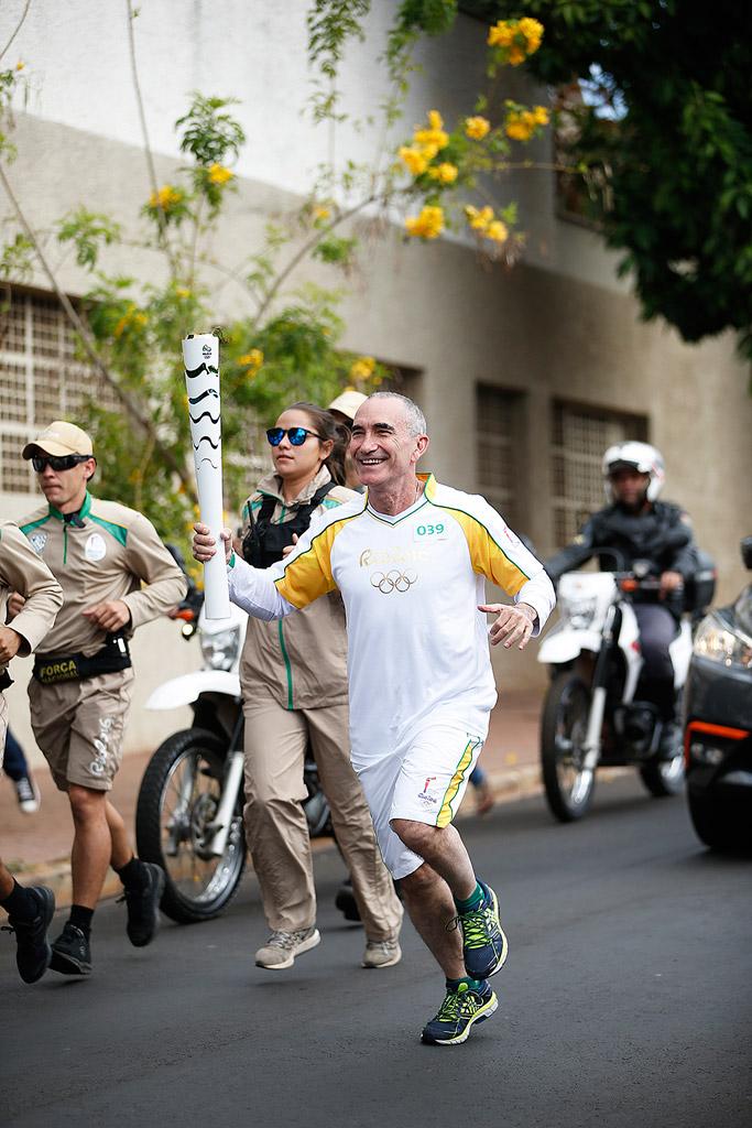Jay Geier 361 Degrees Olympic Torch Rio