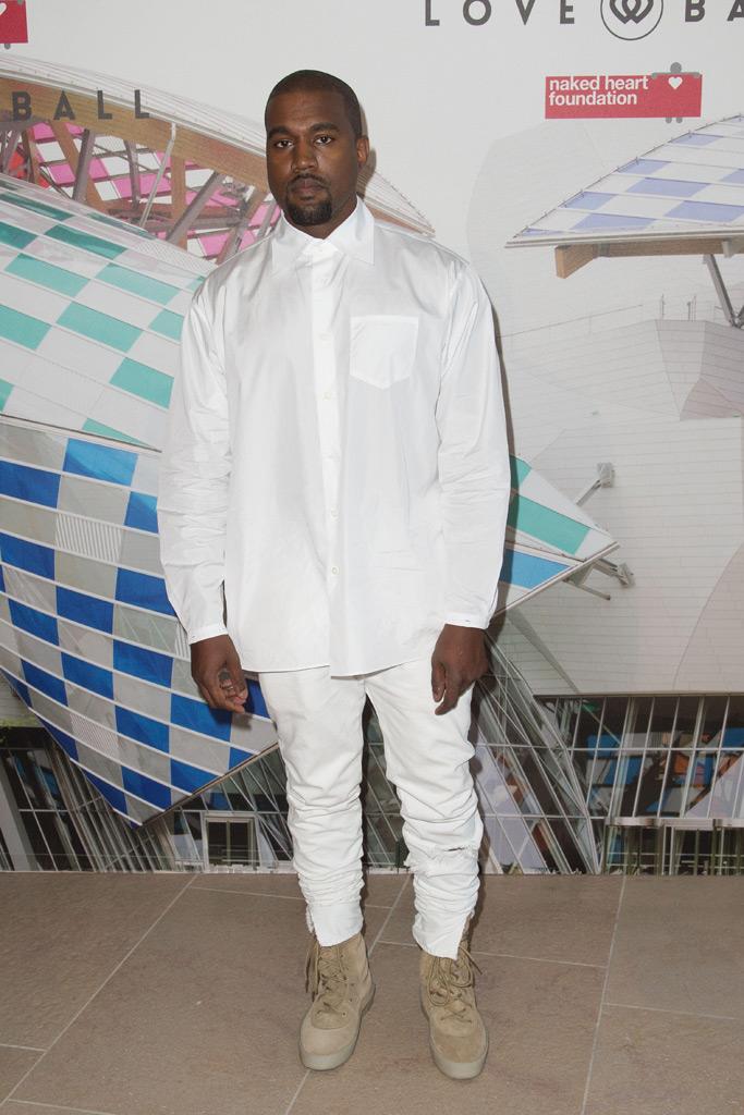 Kanye West Wears Yeezy Season 2 Crepe