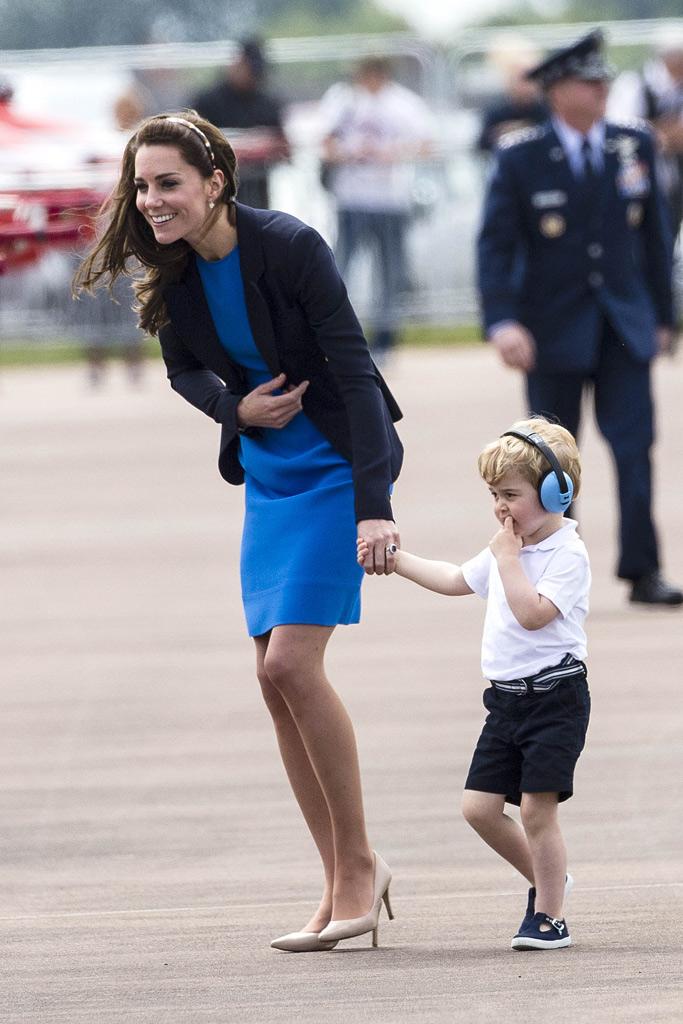 Kate Middleton RAF Prince George LK Bennett Heels