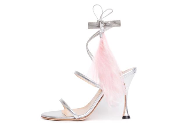Liudmila feather heel