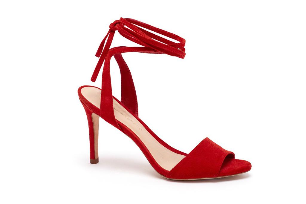 Emma Roberts New York Loeffler Randall Red Sandals