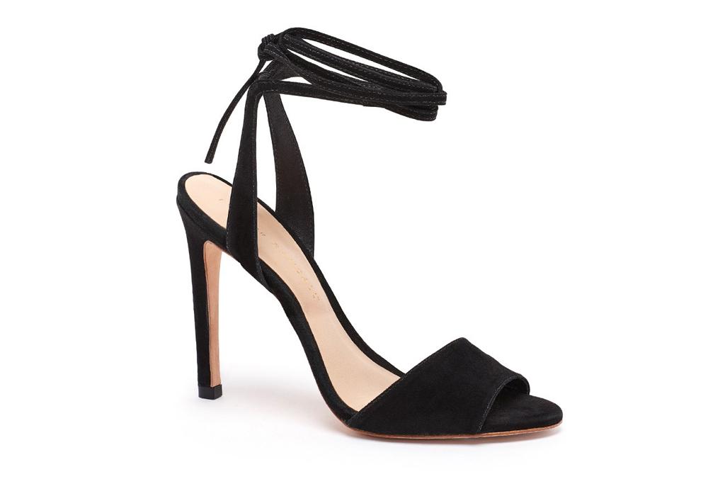 Emma Roberts New York Loeffler Randall Black Sandals