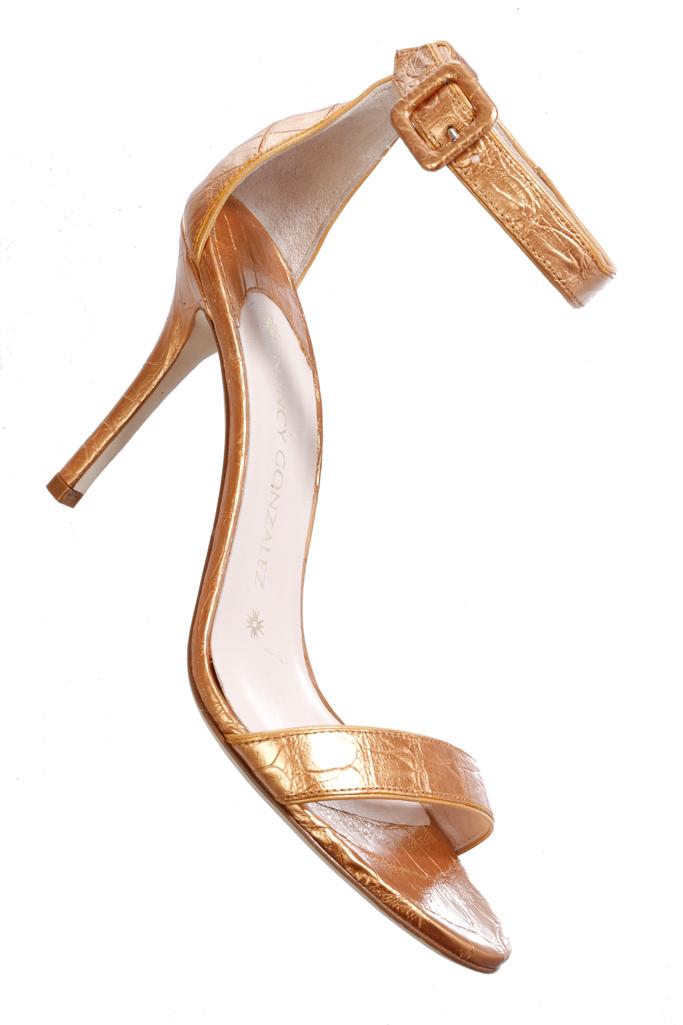 Nancy Gonzalez Croc Skin Shoes
