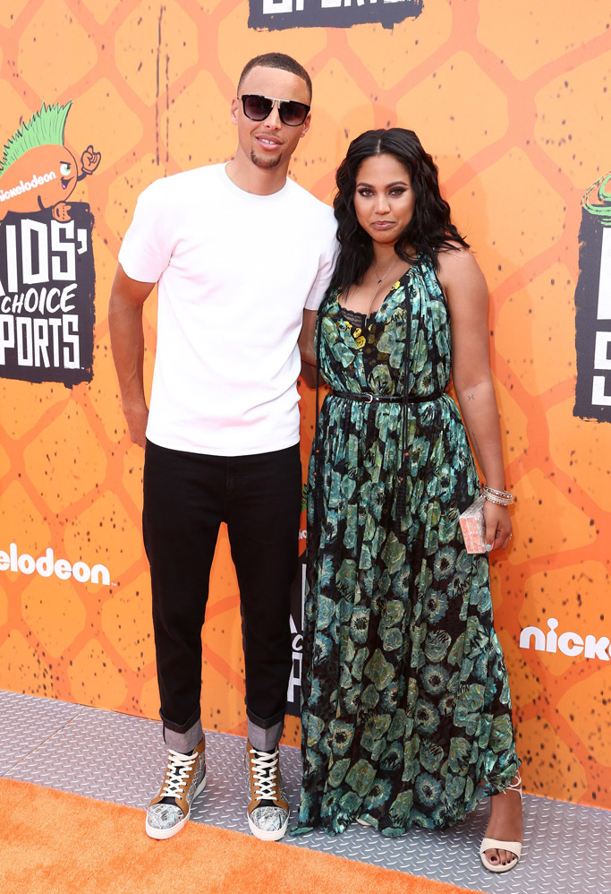 Stephen Ayesha Curry Nickelodeon Kids Choice Sports Awards Red Carpet