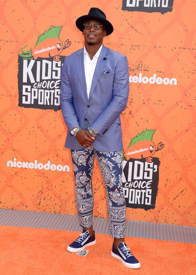 Cam Newton Nickelodeon Kids Choice Sports Awards Red Carpet