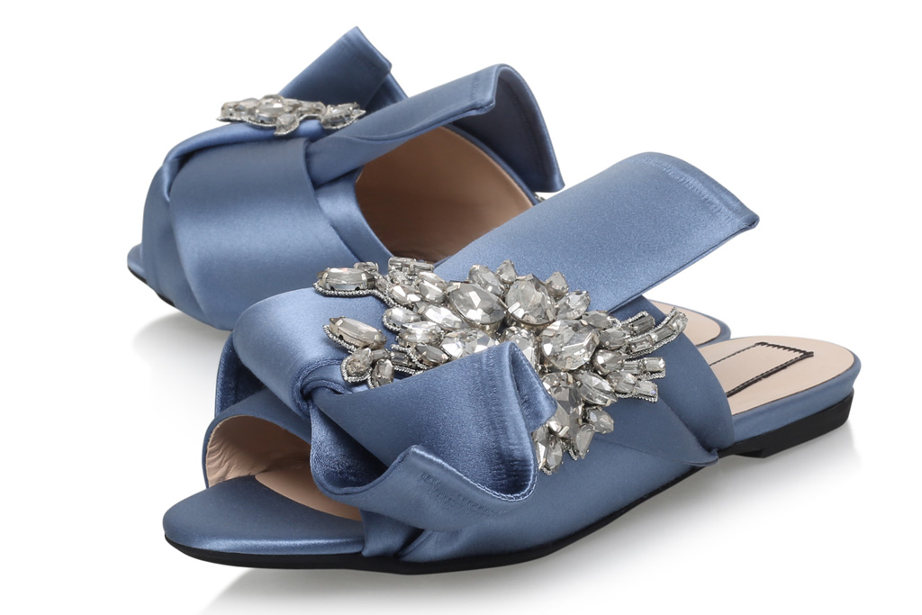 No. 21 Bow Mules Harrods