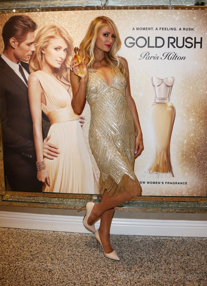 paris hilton gold rush fragrance high heels stiletto