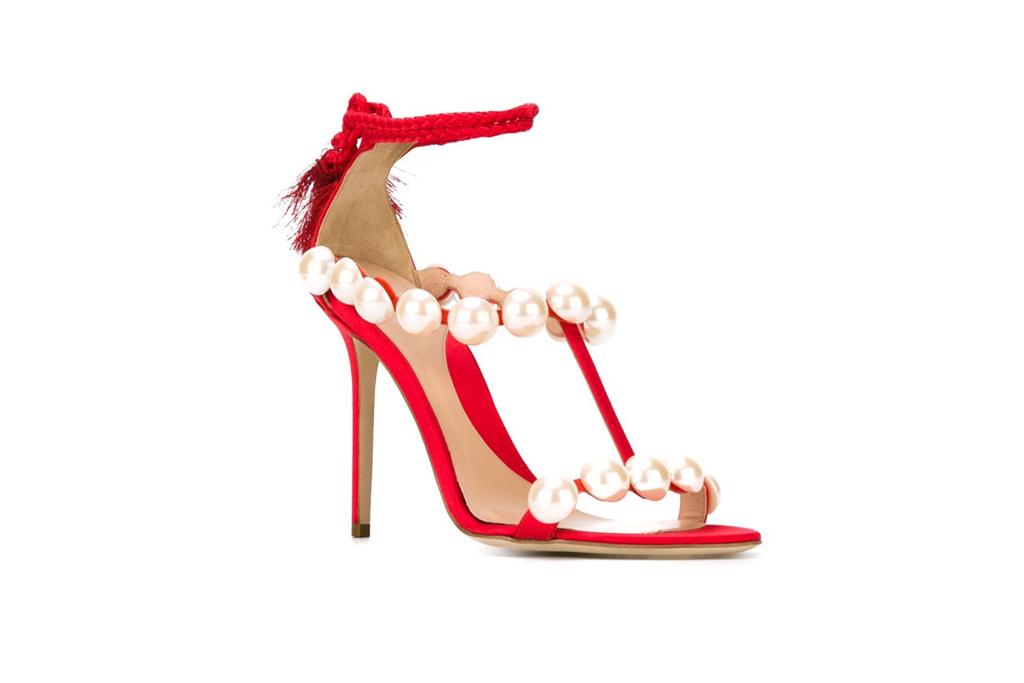 Paula Cademartori Pearl Sandals Beyoncé