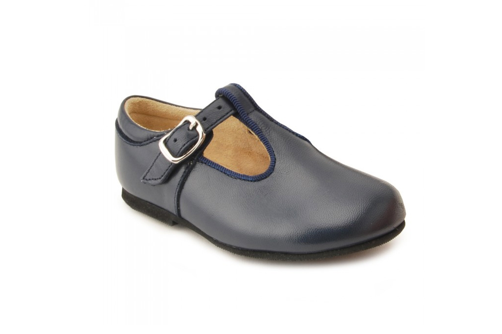 Prince George Jo Navy Leather Shoes