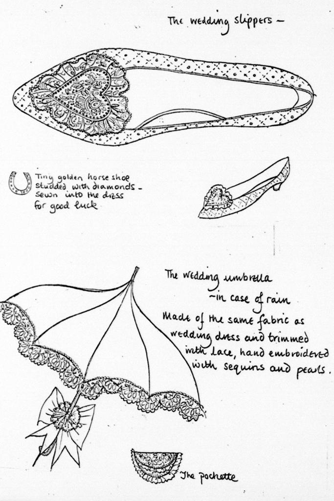 Princess Diana Wedding Shoes