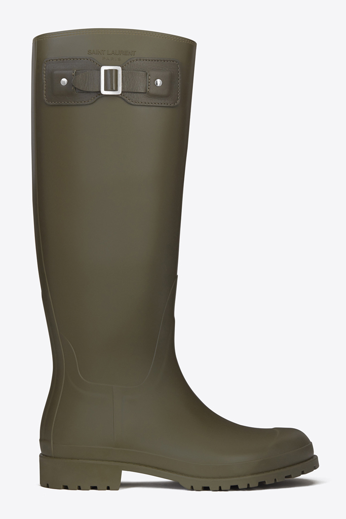 saint laurent rain boot