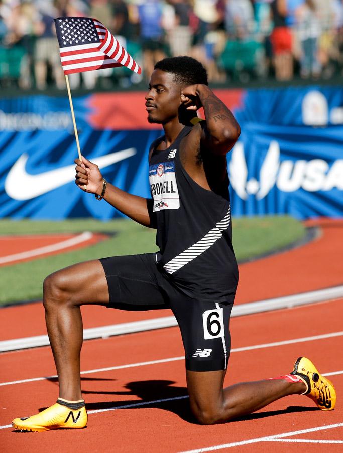 Sprinter Trayvon Bromell Olympics Rio 2016