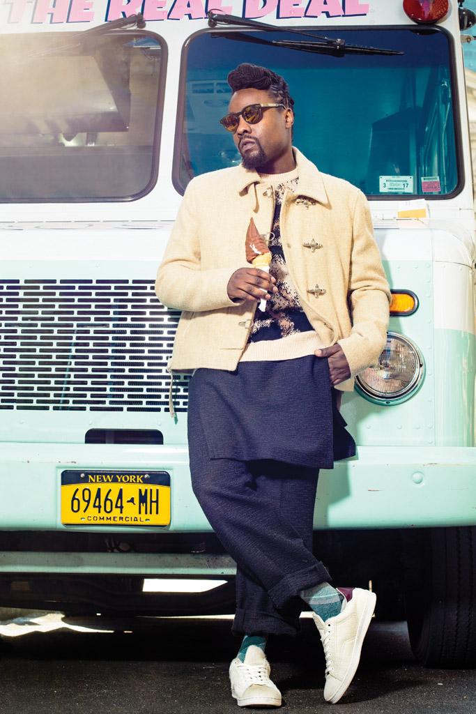 Wale Rapper Fashion Asics Villa Sneakers